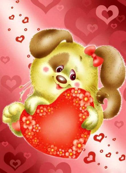 Красивая лучшая бесплатная открытка с поздравлением, лучшая бесплатная открытка с поздравлением, 14 февраля, сердце, поздравление, сердечко, щенок. Открытки  Красивая лучшая бесплатная открытка с поздравлением, лучшая бесплатная открытка с поздравлением, 14 февраля, сердце, поздравление, сердечко, щенок, День святого Валентина скачать бесплатно онлайн! Печать открытки! скачать открытку бесплатно | pozdravok.qwestore.com