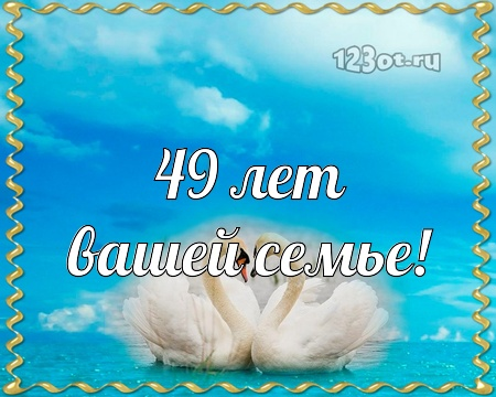 С годовщиной свадьбы 49 лет! Лучшая, живописная, окрыляющая бесплатная открытка с поздравлением, поздравительная картинка, плейкаст! Красивые открытки бесплатно! скачать открытку бесплатно   pozdravok.qwestore.com